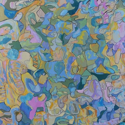 Abstraction 2. Oil on canvas, 52 x 64 inches (1)